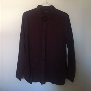 Banana Republic Maroon Button up